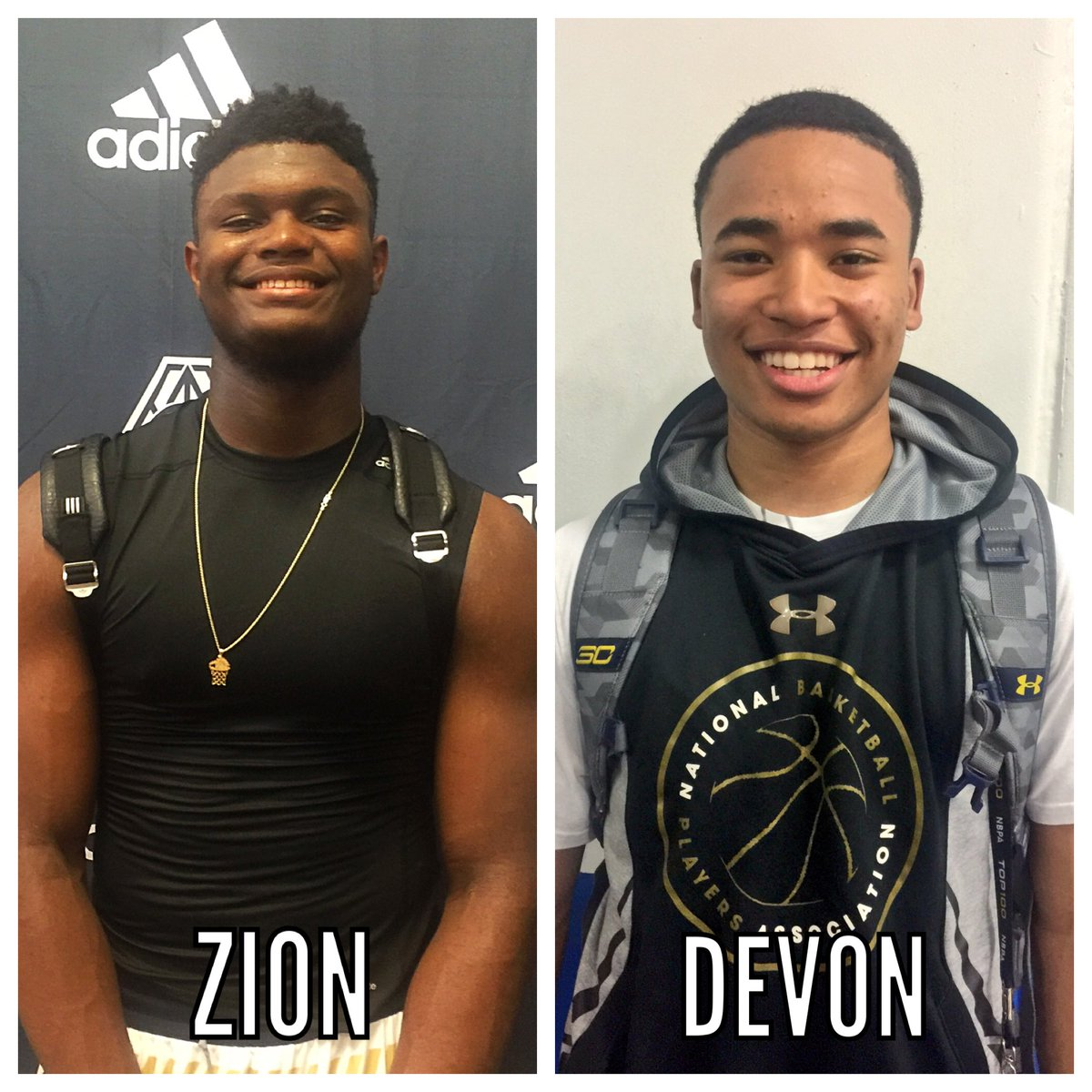 Andrew Slater On Twitter Top Ranked Zion Williamson Zionw32 5 Pg Devon Dotson D Dotson1 Are Expected To Join Forces For Sc Supreme In Vegas Dynamicduo Https T Co Q9ukbonj4x