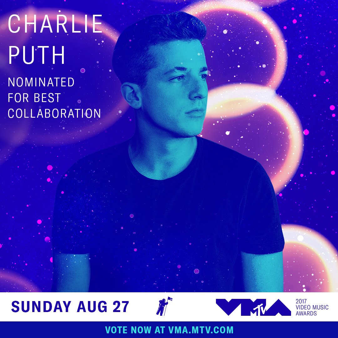 @charlieputh congrats on being nominated at the 2017 #vmas: https://t....