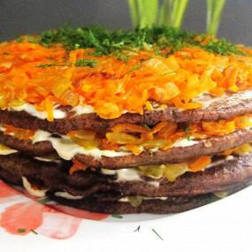 Печеночный торт рецепт видео