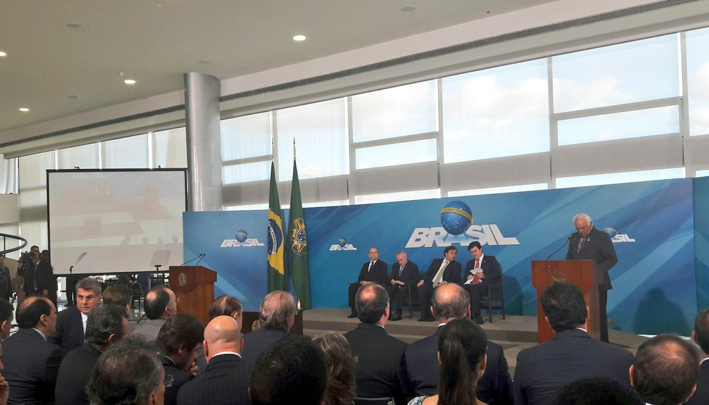 Começa agora no Palácio do Planalto, a cerimônia de lançamento do Programa de Revitalização da Indústria Mineral Brasileira.