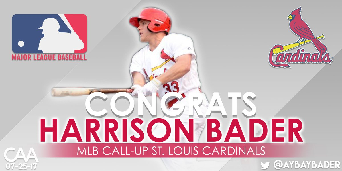 Congratulations to @aybaybader on his callup to @MLB! #STLCards https://t.co/67kWUz0DIc