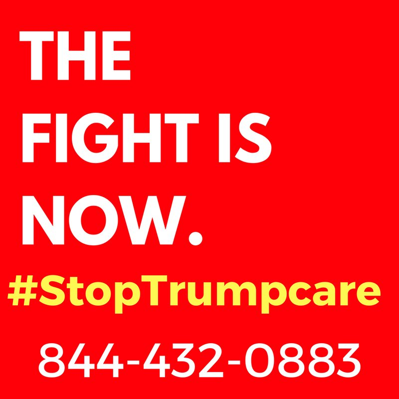This fight is not over. #StayLoud & #StopTrumpcare! CALL: 844-432-0883
