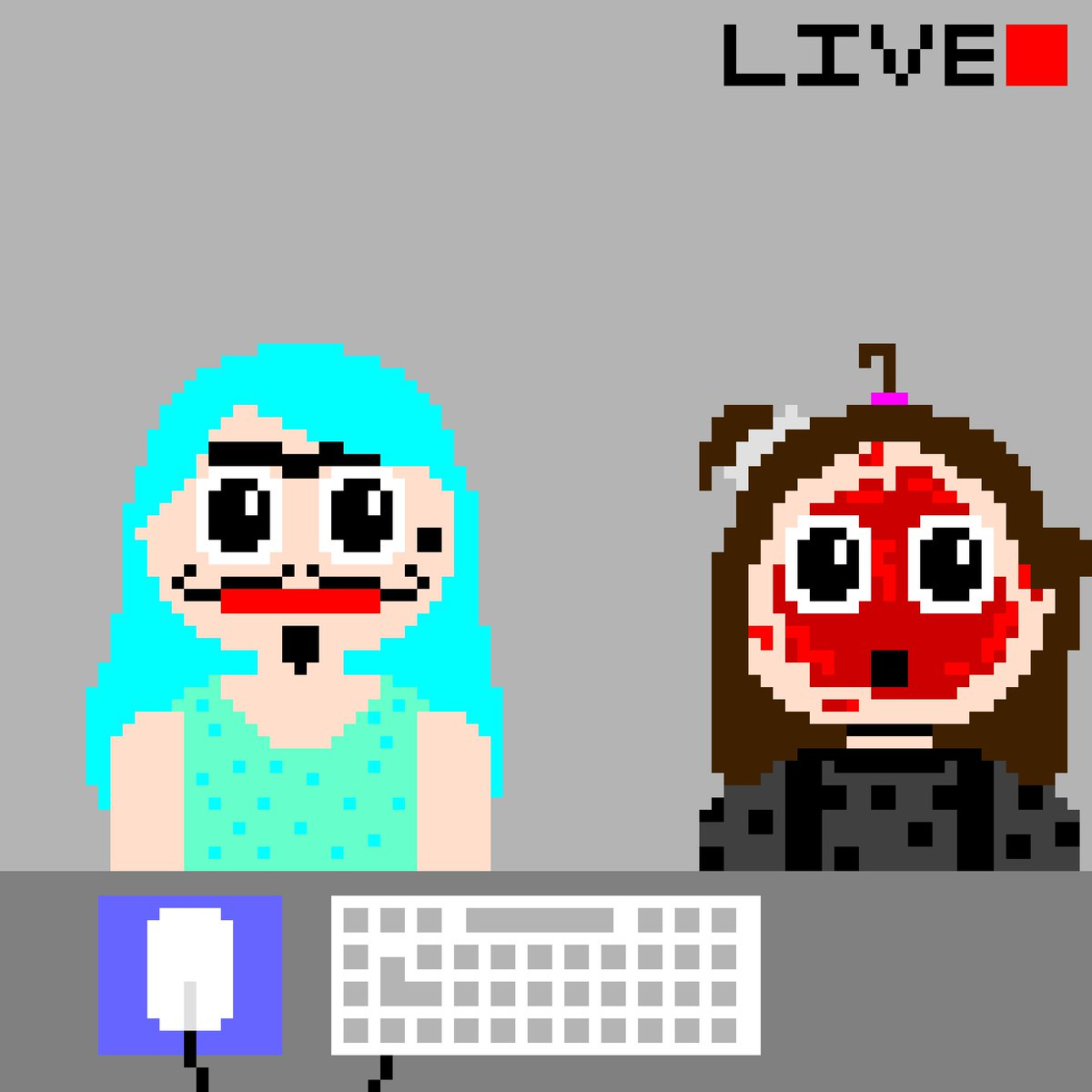 nettyplays A pixel art based on @nettyplays and @Tomohawk1989 's livestream. You won't  find content like THIS anywhere else!pic.twitter.com/XQ7KgtllQc