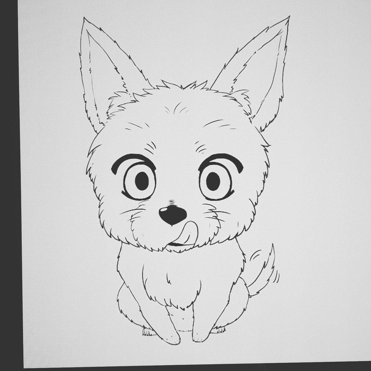 Marina094art On Twitter Preview Dog Animal Anime Manga