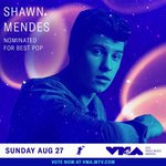 RT @ShawnMendes: Thank you @MTV for the #VMAs nomi...