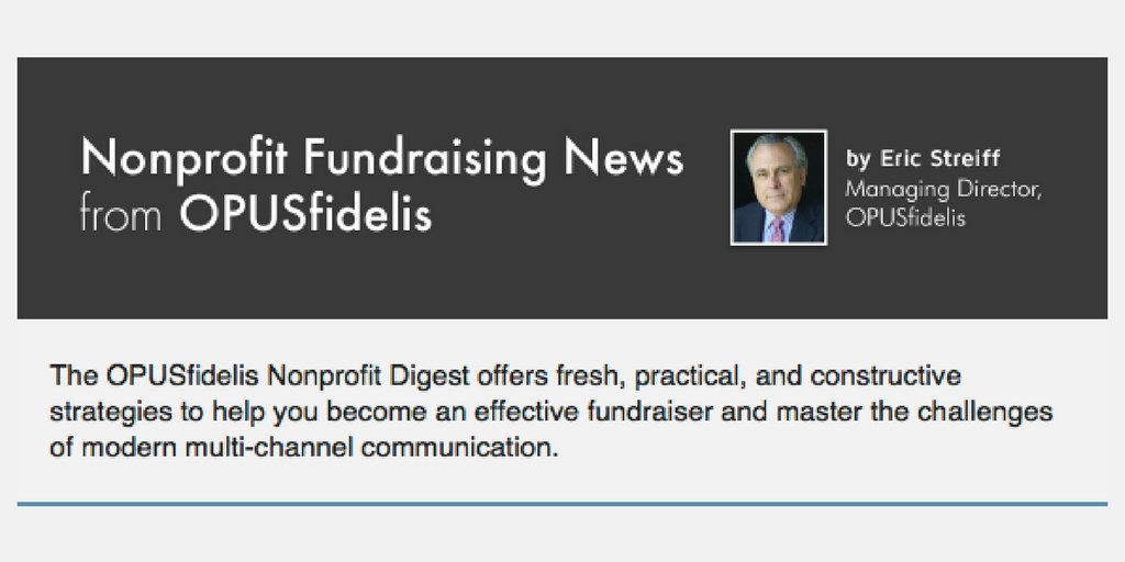 The latest OPUSfidelis #Nonprofit Digest is out! Read it here:  http:// opusf.co/2h0lQ8i  &nbsp;  <br>http://pic.twitter.com/BtGoMJ6iT0