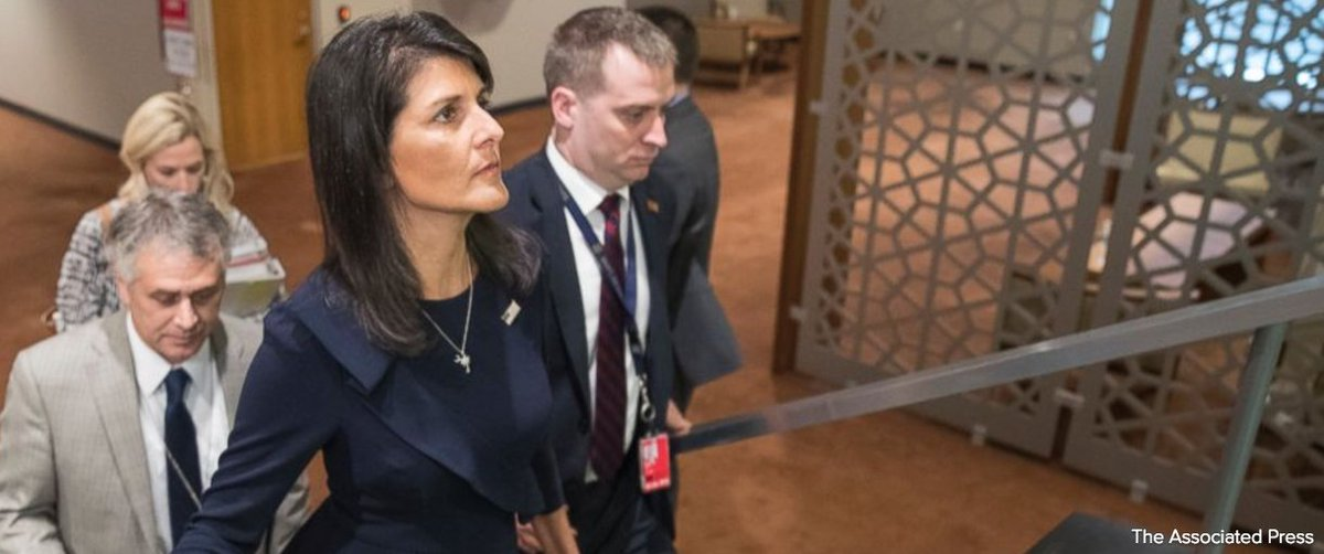 Amb. Haley says U.S., China making progress on UN resolution that'd impose additional sanctions against North Korea. https://t.co/nbF1a6gZCI