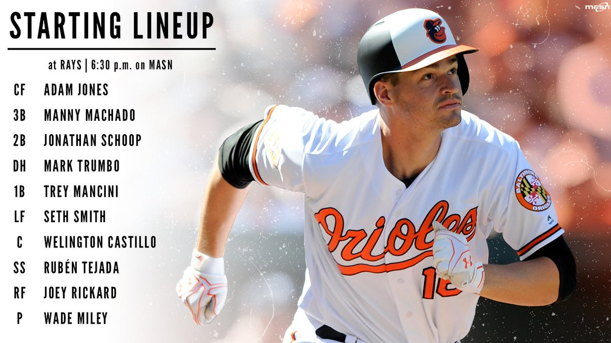 Wade Miley takes the mound as the #Orioles look to take the series aga...