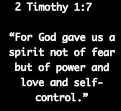 For God gave us a spirit not of fear but of power and love and self control. | #TTN #nonprofit #charity<br>http://pic.twitter.com/Zoc45zMBuz