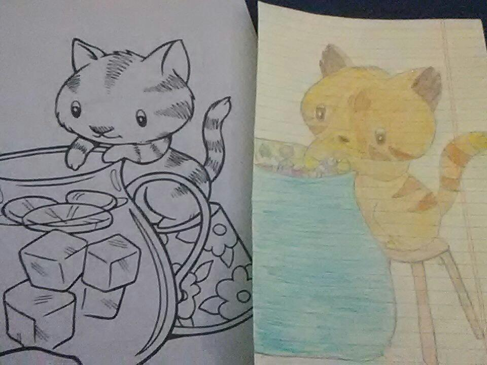 Castle Cats Fan On Twitter \i Traced A Coloring Book Page And Rhtwitter: Castle Cats Coloring Pages At Baymontmadison.com