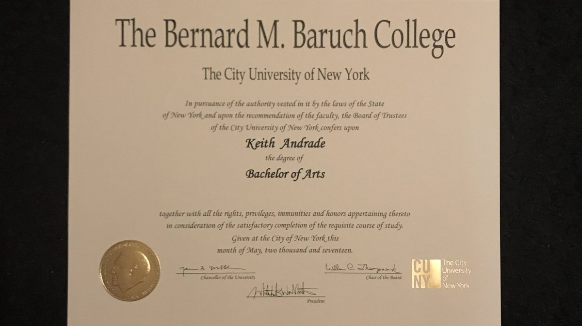 Kind Keith On Twitter Four Years Baruchcollege And Yet They