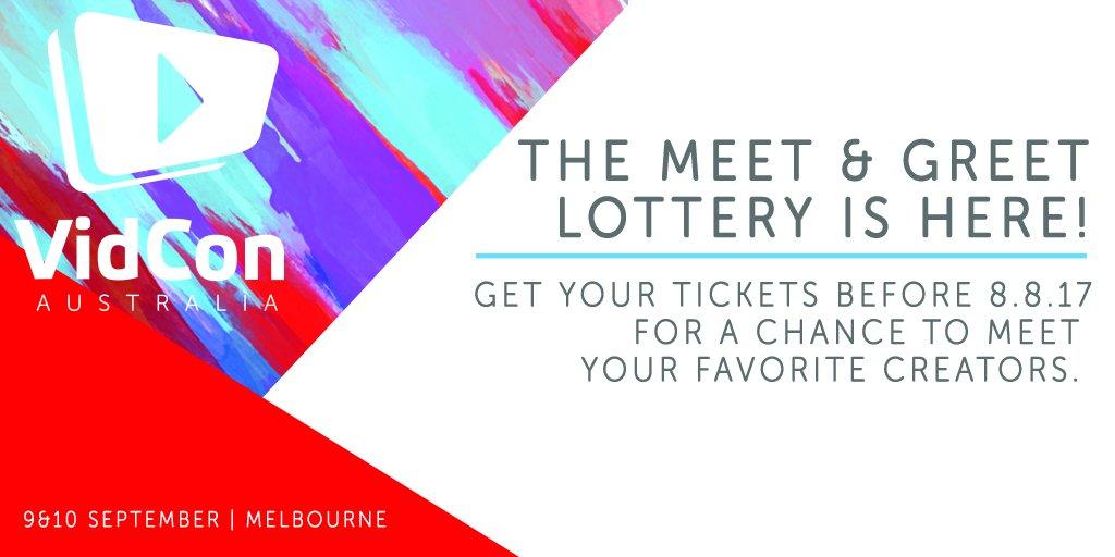 Vidcon on twitter the vidconaus meet greet lottery is happening 426 pm 25 jul 2017 m4hsunfo