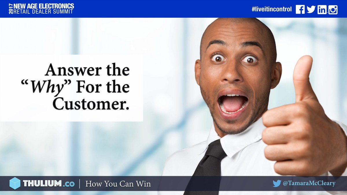 Want to &quot;Win&quot; in your industry? Fundamentally, you must answer the &quot;Why&quot; for your customer. ~ @TamaraMcCleary #marketing #branding #sales<br>http://pic.twitter.com/fzJIMA4h6s