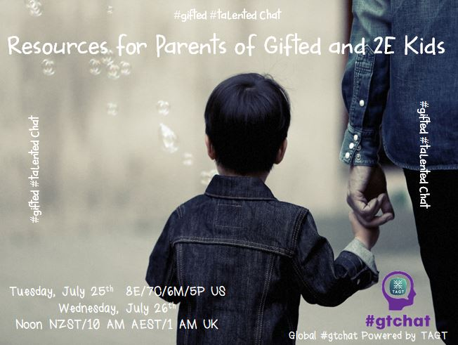 "T-10 till #gtchat - Today we'll be chatting about ""Resources for Parents of Gifted and 2E Kids"" https://t.co/jLIpDxs71a"