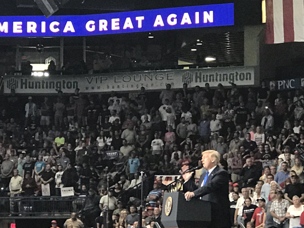 'We will bring back our sovereignty as a nation!' @POTUS in Youngstown...