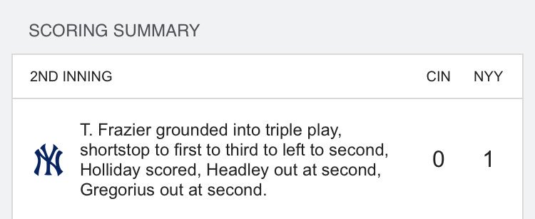 Per @EliasSports, you will never see an RBI triple play ever again in...