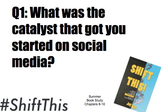 Getting right into it...  Q1: What was the catalyst that got you connected on social media? #ShiftThis https://t.co/Sn3SmIGsmL