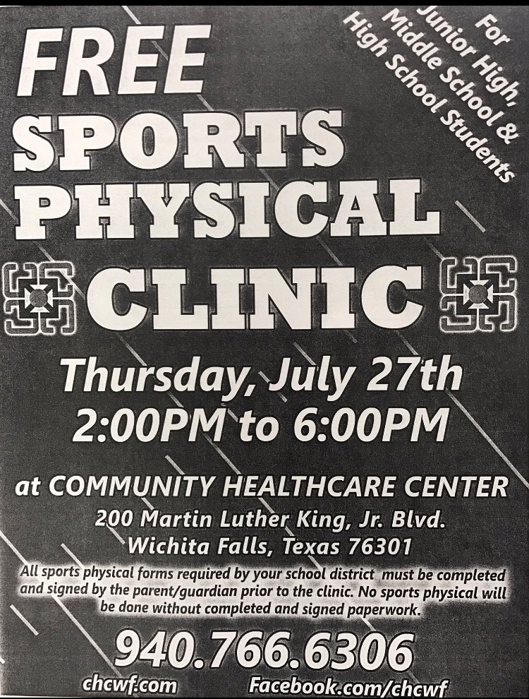 wfhs soccer on twitter free sports physicals this thursday must