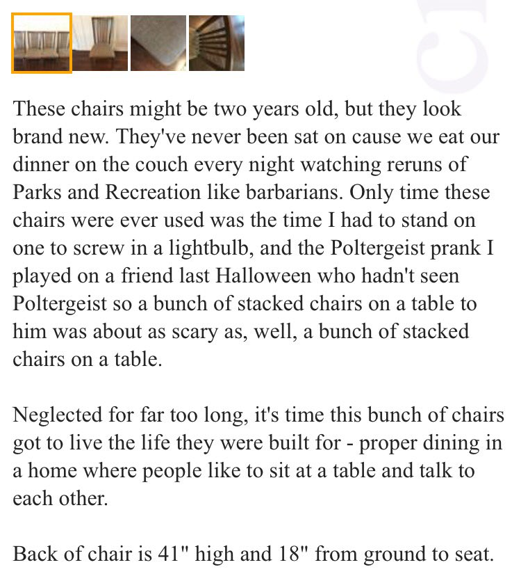 You'd be lucky to find a craigslist post written by me https://t.co/YmFe2L4QFB