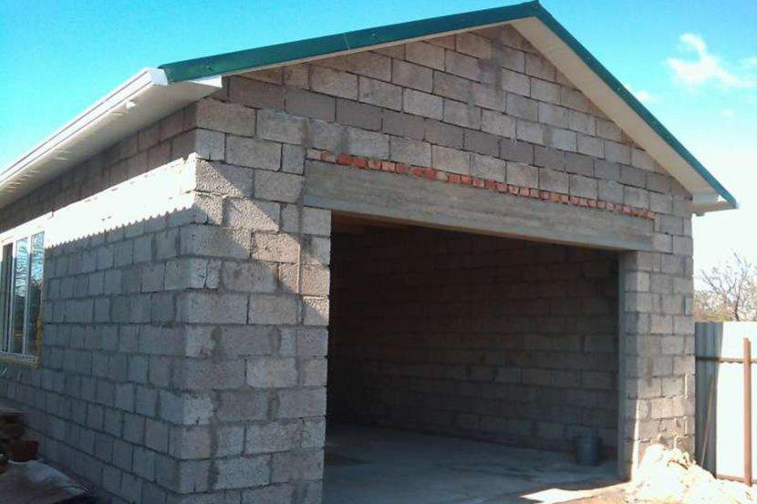 дешевые блоки для строительства гаража