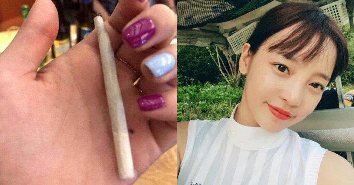 대마? 담배? 구하라가 인스타그램에 올린 사진 한 장  간밤에 '요거 신맛난다. 맛이 있다'는 멘트와 함께 사진 하나를 게시했는데, 말아 피우는 담배의 외형이라 대마초가 아니냐는 추측이 커지고 있다.  https://t.co/HHXO1485Gf