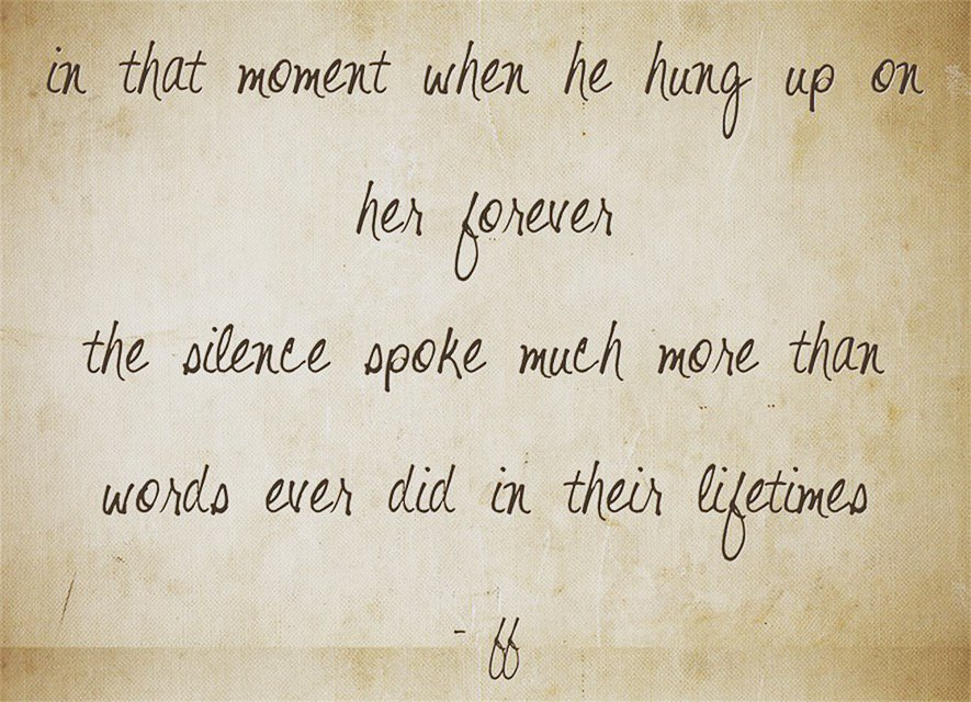 sometimes silence says a lot more than words #musings #poems #Tiniature #ff https://t.co/W6obcdlMOF