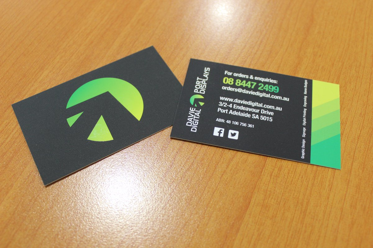 Davie digital daviedigital1 twitter our new business cards designed in house printed on 450gsm card w matte laminate spot uv contact us to order some for your businesspicitter reheart Images