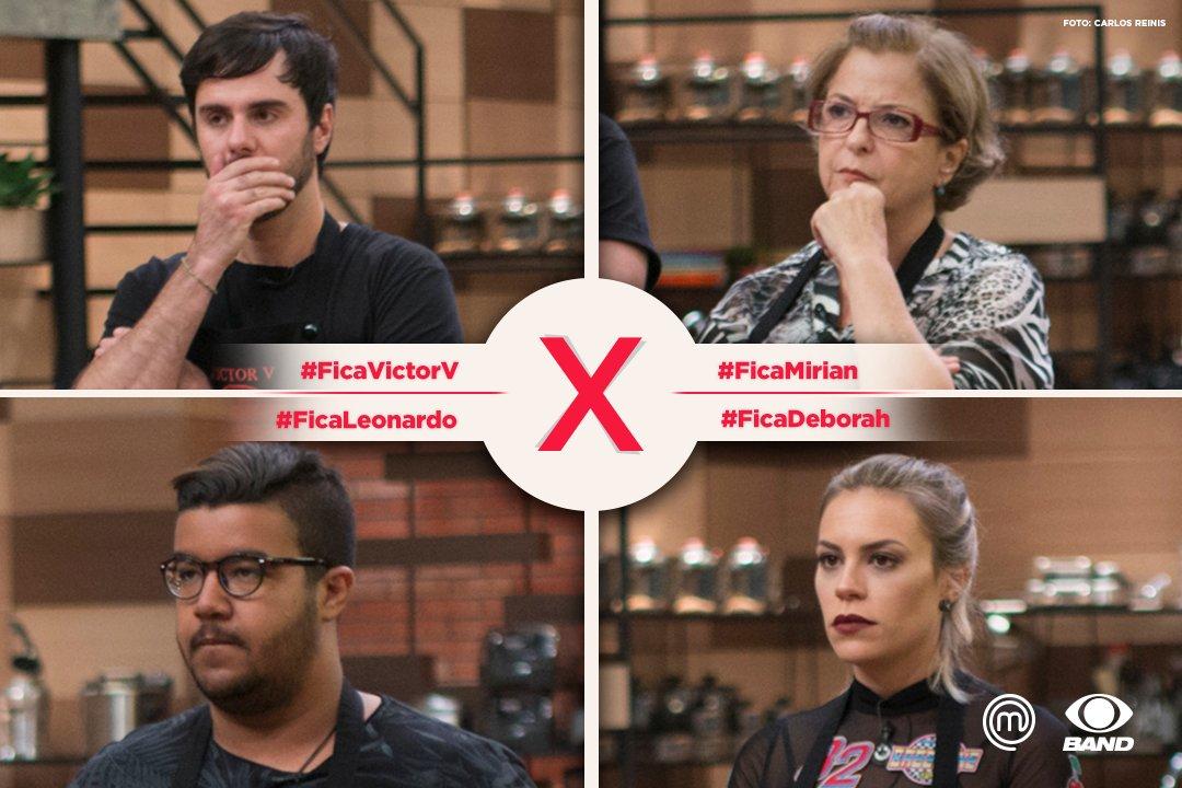 Quem você quer ver dentro do top 5? #FicaVictorV #FicaMirian #FicaLeonardo #FicaDeborah  #MasterChefBR