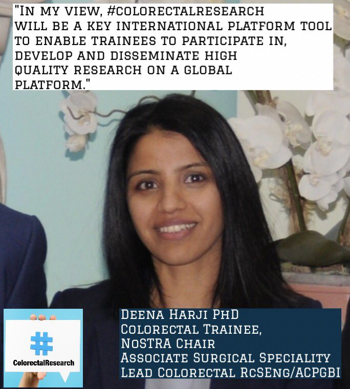@DeenaHarji outlines the importance of a platform such as #colorectalresearch to #colorectalsurgery trainees <br>http://pic.twitter.com/ZaGGi2bVAx
