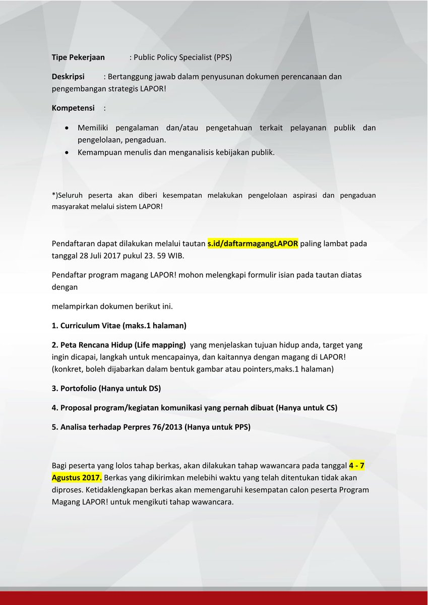 Tel U Career On Twitter Internship Satu Data Indonesia Https