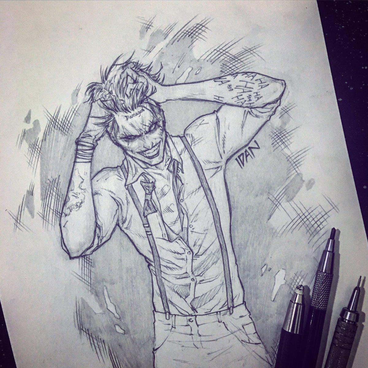 Pencil sketch artwork joker batman dccomics artofidanpic twitter com npc4rzyydx