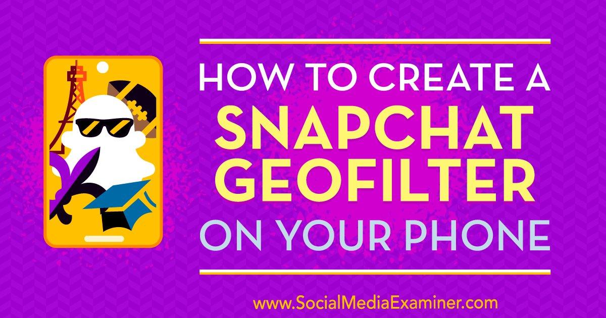How to Create a Snapchat Geofilter on Your Phone  https://www. mhb.io/e/423t9/3n  &nbsp;   #webtraffic <br>http://pic.twitter.com/U3mb3u2jaM