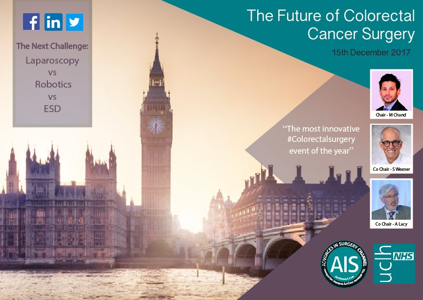 We are delighted to have @DeborahAlsina Chief Exec @Bowel_Cancer_UK opening this year&#39;s #colorectalsurgery event! Live on @AISChannel Dec 15<br>http://pic.twitter.com/1lkyHFFn1b