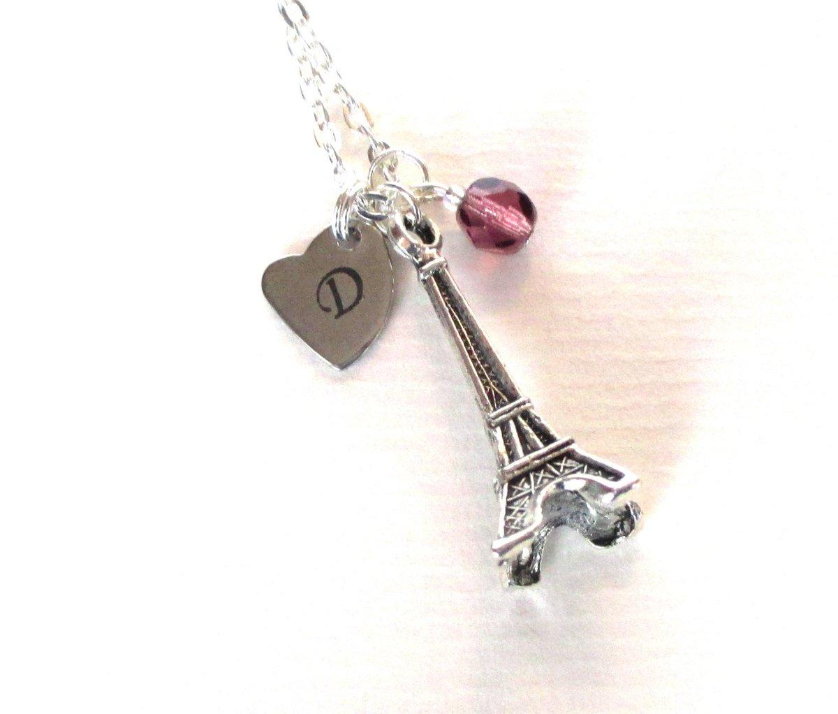 Mother&#39;s Day gift - Eiffel Tower necklace -  Mum gift - Paris gift - Initial …  http:// tuppu.net/56ba0a7d  &nbsp;   #Etsy #EtsyUk<br>http://pic.twitter.com/rvnEms4Okg