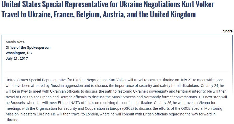 Today Special Rep. Volker is in #Brussels to meet w/ #EU &amp; #NATO officials to discuss the conflict in #Ukraine:  https:// go.usa.gov/xRW4S  &nbsp;  <br>http://pic.twitter.com/veqPBpQAY4