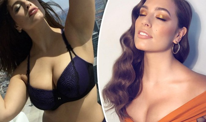 6db681f8f5707f Ashley Graham s ample assets take centre-stage in boob-baring bralette for racy  shoot