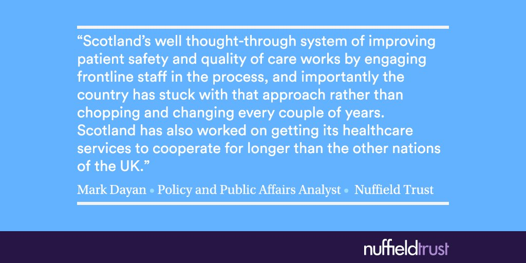 In our latest report we considered what the rest of the UK can learn from Scotland's NHS > https://t.co/Sxe3RkBIh3