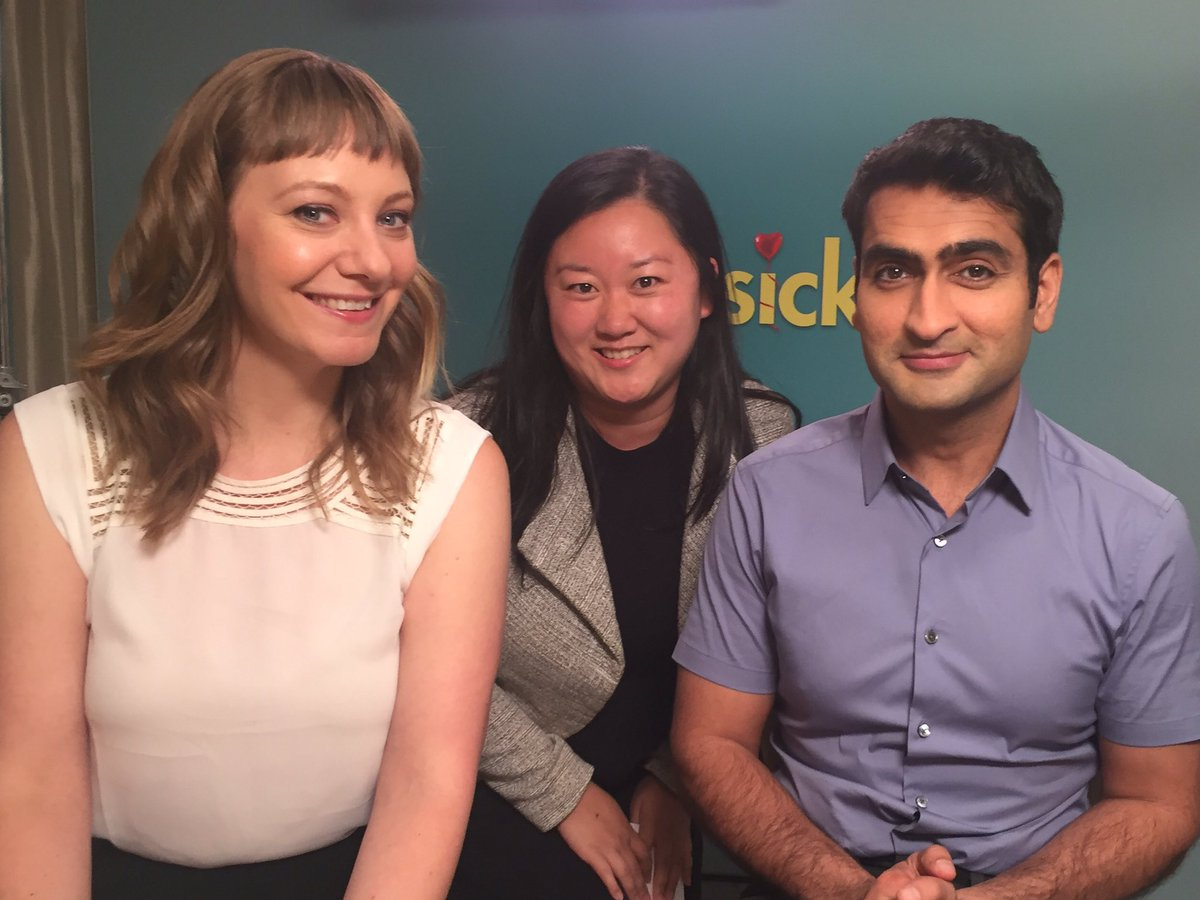 Had a great time chatting to @kumailn and @emilyvgordon about @TheBigSickMovie and how terrible Hugh Grant's hair was in Nine Months.
