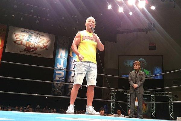 本間朋晃選手が『G1』仙台大会に登場!! ファンに復帰を約束!! #njpw #g127