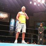 本間朋晃選手が『G1』仙台大会に登場!! ファンに復帰を約束!!  #njpw #g127 pic.…