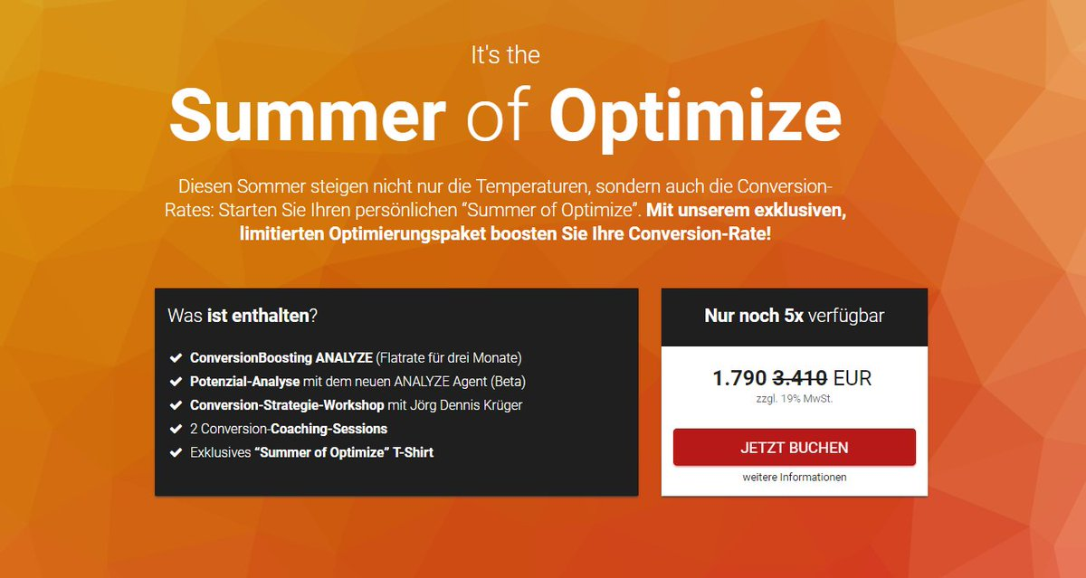 🌞It's the Summer of #Optimize:🌞  Exklusives #Conversion-Optimierungspaket für ihren #Conversion Sommer:⤵️ https://t.co/goc0eDIUBY https://t.co/zKctiXg67r