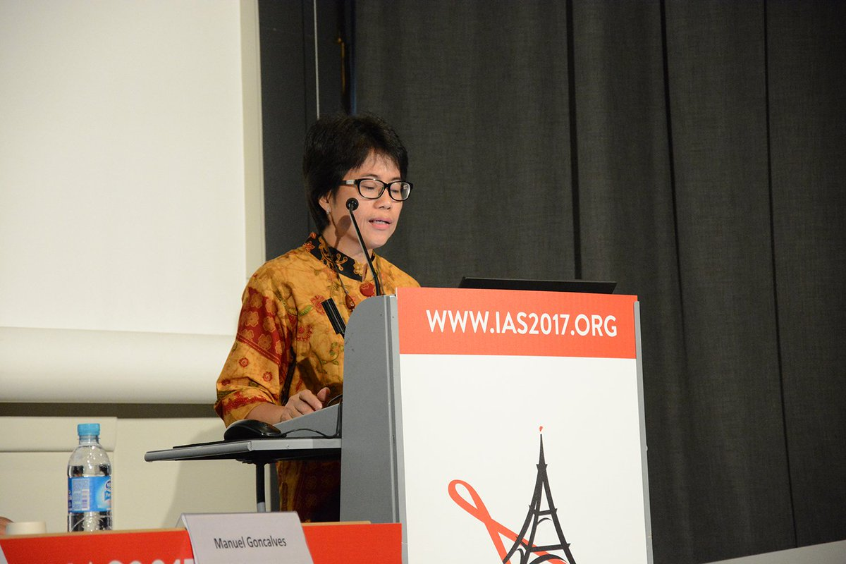 Lusia Ang discusses how she provides stigma-free HIV services to people who inject drugs in Indonesia. #IAS2017 @LINKAGESproject