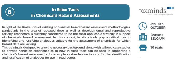 If you #register here … http://caat -academy-2017-toxminds.eventbrite.com  &nbsp;  , you will #learn about #InSilico #Tools #Chemical #Hazard #Assessments  #phdchat #science #lab<br>http://pic.twitter.com/efZmIyPEt8