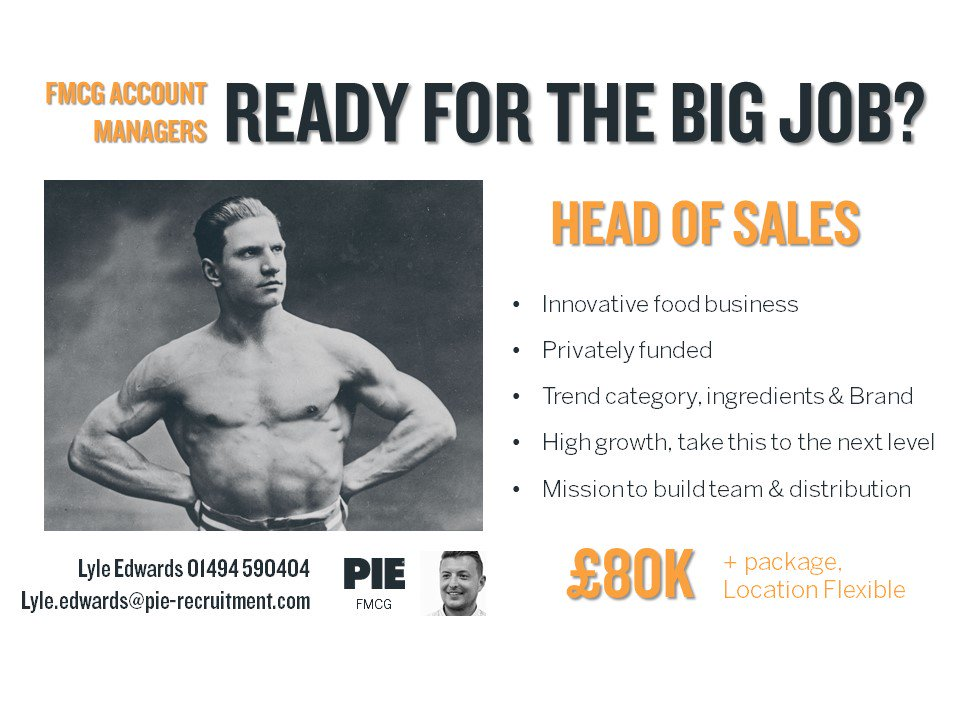 Are you ready for this? Head of Sales opportunity for this trending #FMCG business! #ContactUs to find out more &gt;&gt;  http:// bit.ly/2w0mjdj  &nbsp;  <br>http://pic.twitter.com/GIp2ygIVb0