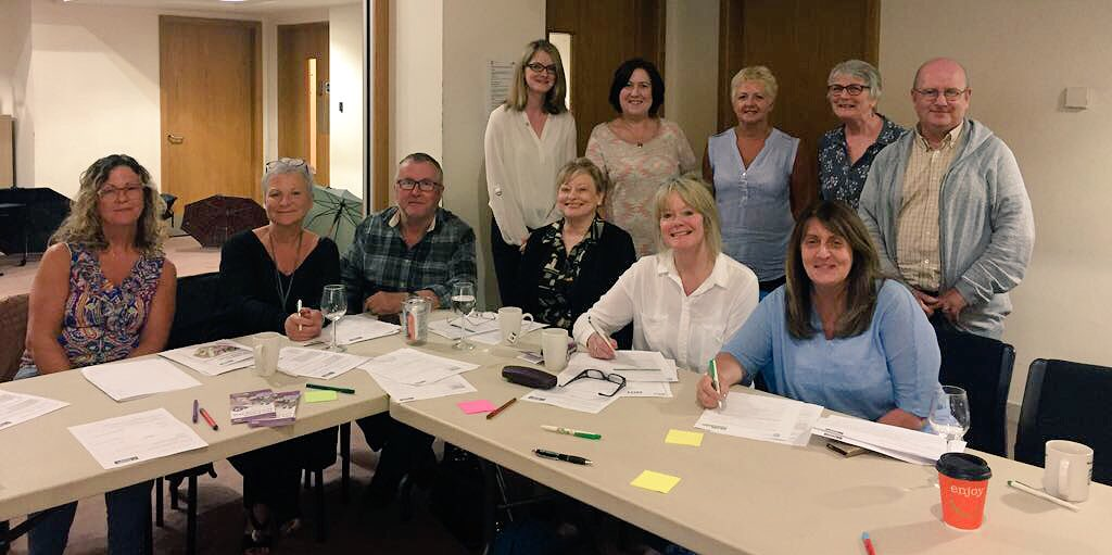 Huge thank you to Claire @Bowel_Cancer_UK for facilitating an excellent session with Macmillan Cancer Info &amp; Support #volunteers today  <br>http://pic.twitter.com/FvpgvABJPq