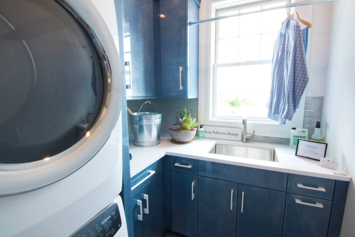 Impressive on how #GregMcKenzie transformed a small space into a functional #laundryroom at #TheFieldsHamptons. #Hamptons #InteriorDesign <br>http://pic.twitter.com/4IiIja0EYw