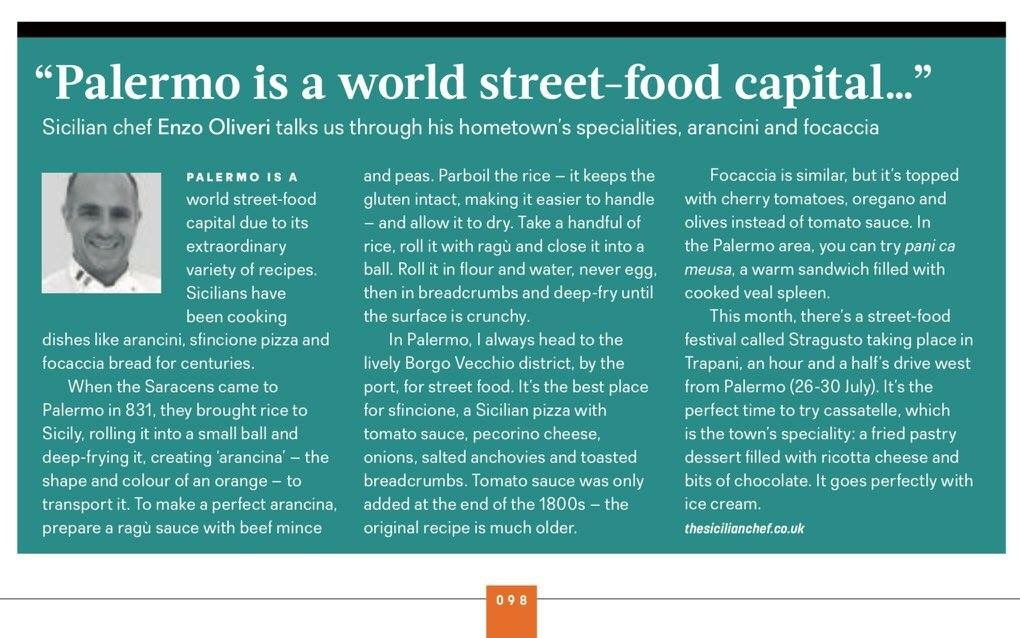 .@easyJet inflight mag interviews our #chef @SicilianChef this July re #Sicilian #food! #Travel #TravelTuesday #TastingSicilyUK #Sicily<br>http://pic.twitter.com/rIbgnIdeX5
