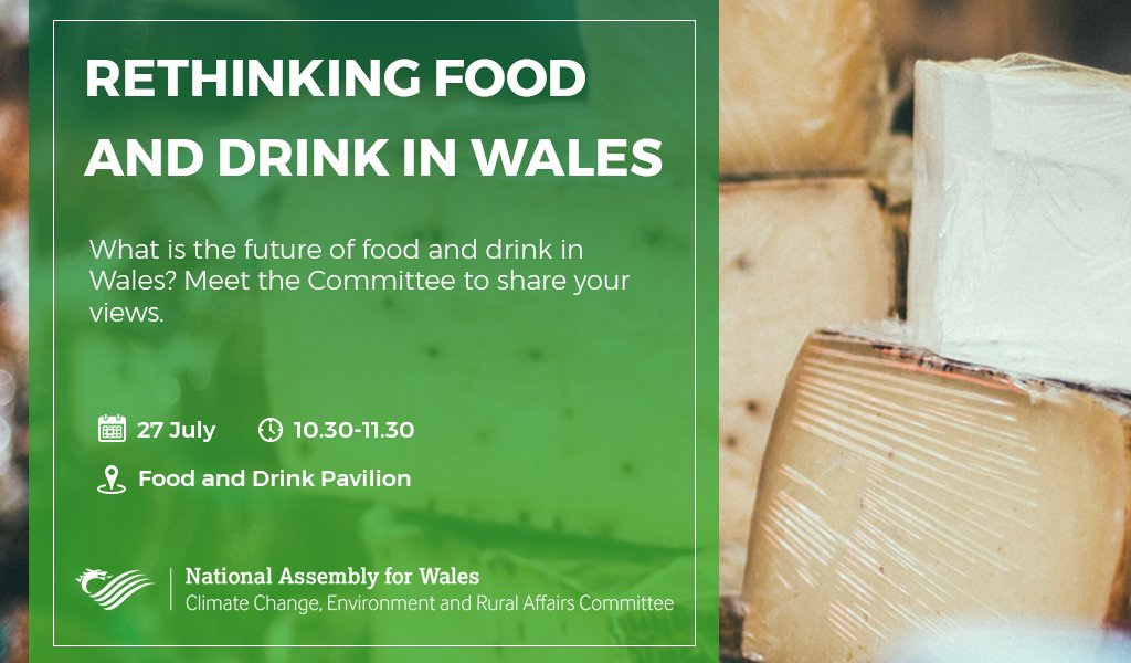 What do you love about #foodanddrink in Wales?  If you're at the #RoyalWelshShow tomorrow, @SeneddCCERA would love to hear your views.