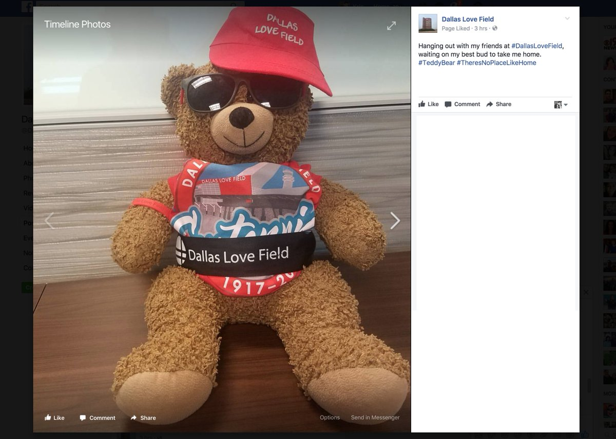 HAPPY ENDING: @DallasLoveField helps locate child's missing Teddy Bear: https://t.co/maw549PFvS