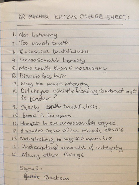 BREAKING NEWS: ANC KZN's charge sheet against Dr Makhosi Khoza: https://t.co/y2II507Ctw